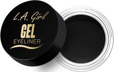 Girl's highly pigmented Gel Eyeliner applies smoothly and easily. Drugstore Eyeshadow Palette, Eyeshadow Brushes, Drugstore Makeup, Nyx Matte Liquid Liner, Gel Liner, Liquid Lipstick, Best Gel Eyeliner, Eyeliner Brush, Brow Pomade