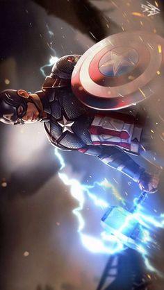 Captain Lifts Thor Hammer for the iPhone - Avengers Endgame Marvel Dc Comics, Marvel Avengers, Marvel Films, Marvel Art, Marvel Heroes, Marvel Characters, Chris Evans, Robert Evans, Die Rächer