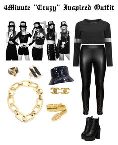 """""""4Minute """"Crazy"""" Inspired Outfit"""" by kookie-the-seagull ❤ liked on Polyvore featuring Norma Kamali, Studio, Ross-Simons, Maiyet, Michael Kors, Chanel and Cartier"""