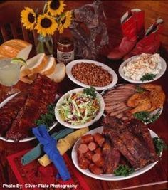 County Line Barbeque- River Walk - Barbecue - Go for a delicious full rack ribs and have a good Texas barbecue on your plate at County Line Barbeque- River Walk River Walk, Bbq Party, Pot Roast, Ribs, Memorial Day, Barbecue, Beef, Ethnic Recipes, Texas Bbq