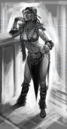 #ConceptArt of Dancer from The Elder Scrolls V: #Skyrim by #RayLederer