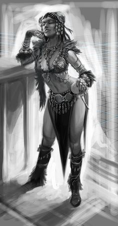 #ConceptArt of Dancer from The Elder Scrolls V: #Skyrim by #RayLederer