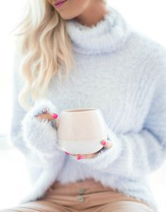 Photography | Paige Winn Photo Free People Sweater, also comes in ivory and yellow! | Blush Cords, comes in 6 other fun colors! | Rug- Rugs USA c/o | Bench- HomeGoods | Coffee Mug- Target | Pink Ring- Mila Rose Jewelry c/o | Pink Sofa- Joybird c/o | Coffee Table- Joss & Main c/o | …