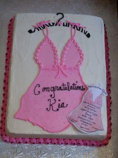 Lingerie Bridal Shower Cake To Match Invitationreal Strawberry