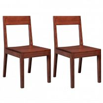 Hazel Bamboo Dining Chairs - Set of 2