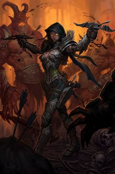 Female Rogue  The Amazing, Official Art of Diablo III