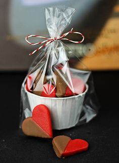 Chocolate Dipped Marzipan Hearts by windgestalt, via Flickr