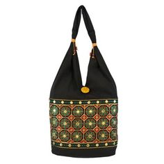 Shilpkart Ethnic Embroidery Black Handbag - Add oodles of style to your home with an exciting range of designer furniture, furnishings, decor items and kitchenware. We promise to deliver best quality products at best prices.Disclaimer:Each bag from the assortment is unique and no two pieces are alike. There can be a slight variation in the actual color owing to thread embroidery.