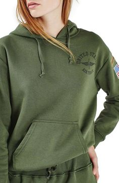 Topshop by Tee & Cake Military Hoodie available at #Nordstrom