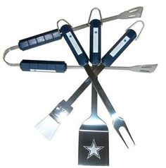 Officially licensed NFL product. 4 piece BBQ set Team logo on the handles of each tool