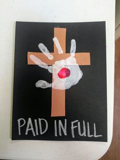 craft-crucifixion of jesus-cross-handprint