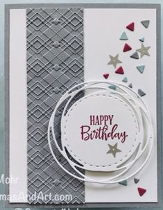 Masculine Birthday Cards, Birthday Cards For Men, Masculine Cards, Birthday Ideas, Stampin Up Anleitung, Male Birthday, Holiday Foods, Stamping Up, Stampin Up Cards