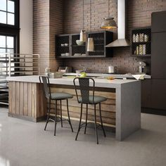 AMISCO - Workshop Stool (41566) - Furniture - Kitchen - Industrial collection - Contemporary - Swivel stool