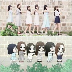 this is too cute >< ♡ 여자친구 GFriend ♡ ♤ Kpop Girl Groups, Korean Girl Groups, Kpop Girls, South Korean Girls, Gfriend And Bts, Sinb Gfriend, Korean Art, G Friend, K Idol