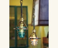 pendant lights made from old insulators
