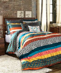 Look at this Tangerine & Turquoise Soho Comforter Set on #zulily today!