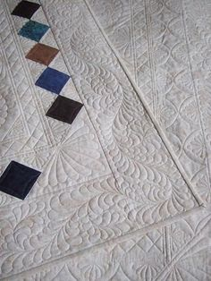 scrappy squares & beautiful quilting