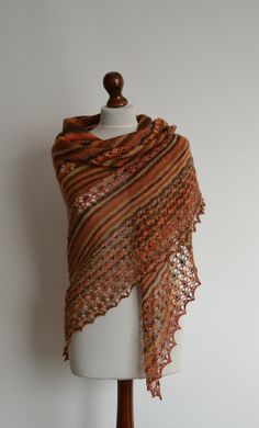 Lace shawl  hand knitted multicolored shawl  by BeaDMcraft on Etsy, $105.00