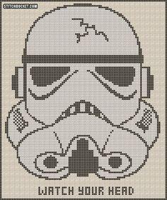 Stormtrooper Cross Stitch Pattern by StitchBucket on Etsy