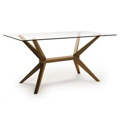 Greenwich Dining Table (Glass Top, Greenwich) | Dining Table | Old Bones Furniture Company