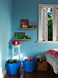 "Children's room in Sydney Harbour Paints ""Beach Club"" Interior Wall Colors, Interior Walls, Interior And Exterior, Paint Companies, World Of Color, Paint Cans, Paint Finishes, My Room"