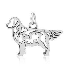 Sterling Silver Golden Retriever Dog breed jewelry, Golden Retreiver pendnat, Goldne Retreiver charm, Golden Retreiver necklace, Golden Retr...