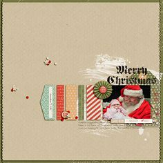 Breanne and Santa - Scrapbook.com