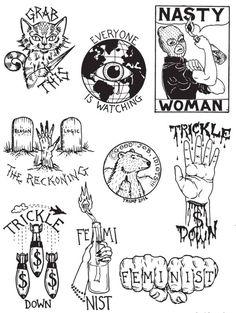 Anticapitalist Feminist clip art