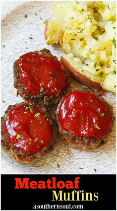 Meatloaf made in a muffin tin is comfort food made easy Meatloaf Muffins cook in half the time as a regular meatloaf making them excellent for a weeknight meal Tender mea. Mini Meatloaf Recipes, Easy Meatloaf, Meat Recipes, Dinner Recipes, Cooking Recipes, Homemade Meatloaf, Meatloaf In Muffin Tin, Mini Meatloaf Muffins, Meatloaf Cupcakes