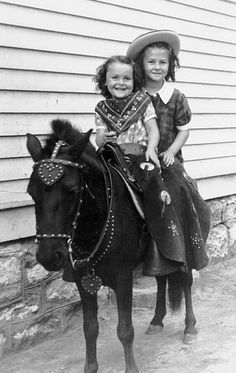 """REMEMBER THE PICTURE MAN WITH THE PONY SAV, REMEMBER """"THE PONIES""""  AND MRS. LINGLE ALWAYS  Joan & Joyce Pony, via Flickr."""