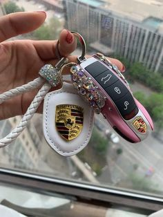 Bling Car Key Holder with Rhinestones for Porsche All models 911 718 boxster Panamera Cayenne Macan Cayman. Best quality sparkling rhinestones are used. More bling your ride car accessories. Porsche Panamera, Porsche 911 Carrera 4s, Porsche Autos, Boxster Spyder, Fancy Cars, Cute Cars, Porsche Logo, Cayman Porsche, Makeup Products