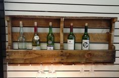 Gift Bar Furniture Upcycled Primitive Wooden Pallet Wine, Whiskey, Liquor Rack and Glass Holder Wall Hanging. Rustic, Farm House Home Decor by TheRustyBucketVT on Etsy