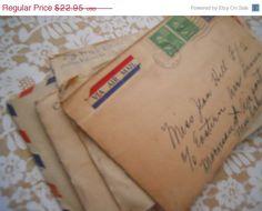 Bundle of 5 Lovely Handwritten Vintage Letters by ZoeAmaris