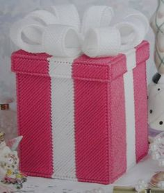 plastic canvas gift box