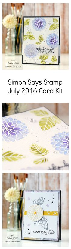 Just released - New Card Kit for July 2016 from Simon Says Stamp. Projects by Wanda Guess. ablogcalledwanda.com