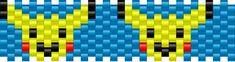 Pikachu Small Pony Bead Patterns | Characters Kandi Patterns for Kandi Cuffs