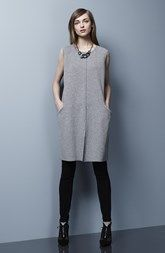 Lafayette 148 New York Flannel Shift Dress & Punto Milano Skinny Pants