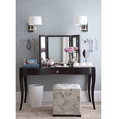 I used to have a vanity~ It had 4 drawers and a big mirror. I loved it. Now I wish I hadn't given it away. Guess I have to find another!!  Easy (and Cheap!) DIY Ideas For the Home | Live the good life for less | AllYou.com