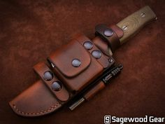 Leather Sheath | PRS Deluxe Scout Sheath | SURVIVE Knives GSO 5.1 | Sagewood Gear | $140