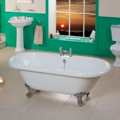 1800 Park Royal Traditional Double Ended Bath Double Ended Bath, Corner Bath, Roll Top Bath, Kitchen Doors, Luxury Bath, Clawfoot Bathtub, Bathroom Furniture, Amazing Bathrooms, Traditional