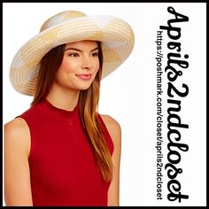 "❗️1-HOUR SALE❗️SUN HAT Round Wide Brim Panama Betmar Wide Brim Hat NEW WITH TAGS  RETAIL PRICE: $70   * Pattern woven construction; Approx. 5"" brim (larger than a fedora ).  * Contrasting band trim accent w/bow detail.   * Allover smooth weaved texture.  * Tagged-One size fits most.  Fabric: 100% Paper Color: White & Natural  Item:  No Trades ✅ Offers Considered*/Bundle Discounts✅  *Please use the blue 'offer' button to submit an offer. Betmar Accessories Hats"