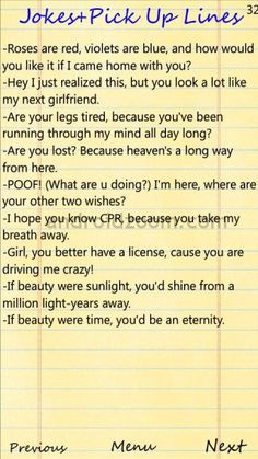 Pick up lines for girls to tell guys