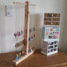 """""""Thanks to my lovely boyfriend for helping me whip up a necklace and ring display stand to use at markets. My next market stall will be at the Young…"""""""
