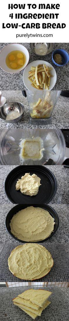 how to make 4 ingredient glutenfree grainfree lowcarb bread