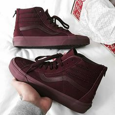 Burgandy Vibes #Vans #Red