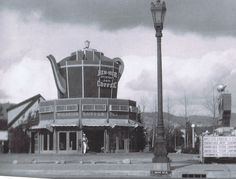 The Wilshire Coffee Pot, located at 8601 Wilshire Boulevard, and featuring Ben-Hur Coffee