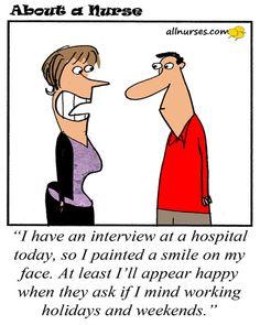 Aw yes, what to say when you gotta get hired? #NursingCareer #NursingCartoon #Humor