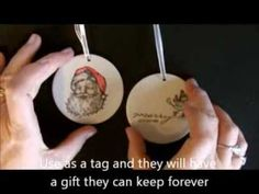 Stamping on Porcelain Ornaments with Deb Valder - YouTube