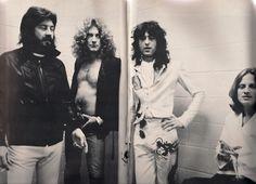 Rare . . . backstage Zeppelin!