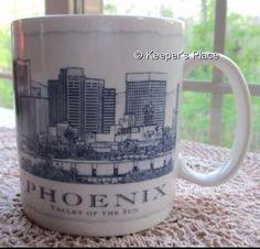 Starbucks 2007 Phoenix Valley Of The Sun Architectural City Coffee Cup Mug 18 oz #Starbucks